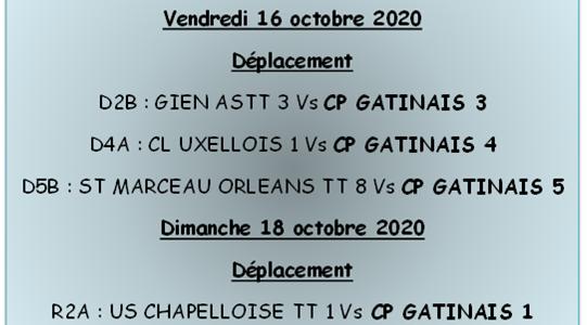 Rencontres séniors du 16 et 18 octobre 2020